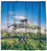 Blauer Himmel Volcano Duschvorhang mit