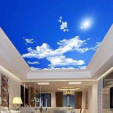 Blauer Himmel Weiße Wolken Sonnenschein Decke