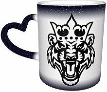 Blauer König des Tigers Hitzeempfindlicher Kaffee