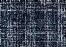 Blauer Teppich mit grafischem Muster 160 x 230 cm