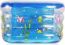 Blauer Transparenter Aufblasbarer Pool Babybecken Kinderbecken (größe : A L)