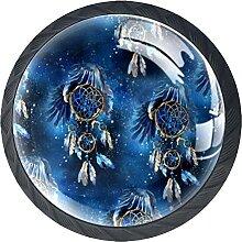 Blauer Traumfänger, 4pcs Küchenschrank Knöpfe