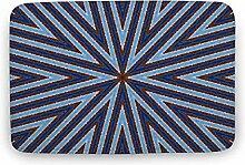 Blaues Design Innen- und Außenbereich Teppich