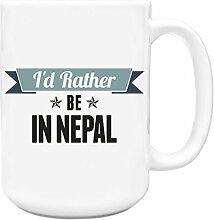 Blaugrün I 'd Rather Be In Nepal Big 444ml Becher 040