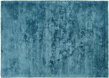 Blaugrüner getufteter Teppich 140x200
