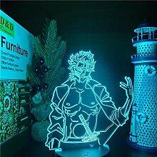 Bleach Grimmjow 3D Illusion Lampe LED Nachtlicht,