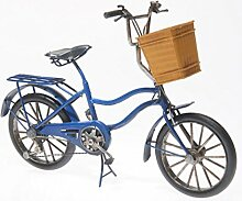 Blech-Fahrrad mit Korb, ca. 27 x 11 x 21 cm -