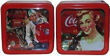 Blechdose mit Fenster Retro Coca-Cola verzink