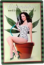 Blechschild 20x30 Cannabis Medical use only mit