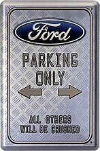 Blechschild 20x30 cm Ford parking only Auto car Werkstatt Garage Metall Schild