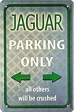Blechschild 20x30 cm Jaguar parking only Auto Garage Metall Schild