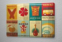 Blechschild Abenteurer Hawaii Tiki Bar