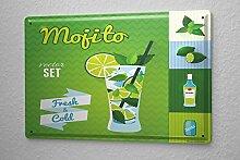 Blechschild Bar Party Mojito