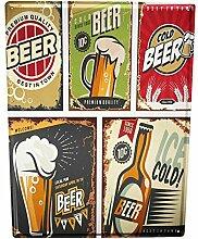 Blechschild Bier Bar Kneipe Bier