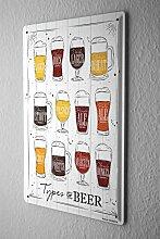 Blechschild Bier Bar Kneipe Biersorten