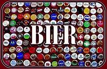 Blechschild Bier Kronkorken