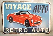 Blechschild Blech Metallschild WERKSTATT Auto Metall Garage Retro (Oldtimer)
