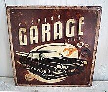 Blechschild Blech Schild Metallschild Nostalgie Retro WERKSTATT Auto Metall Tür (My Garage ) (Retro 1)