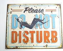 Blechschild DO NOT DISTURB Bitte nicht stören