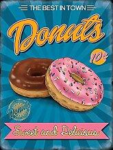 Blechschild Donuts 15x20