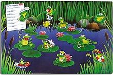 Blechschild Frosch, Geschenk Frauen Freundin Kollegin Mädchen Kinder Dekoschild Wandschild Metallschild inkl. Magnete, Bunt, 40x60 cm