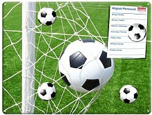Blechschild Fußball Tor mit Magnete, Geschenk Männer Freunde Jungen Dekoschild Wandschild Metallschild, Grün Bunt, 30x40 cm
