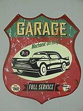 Blechschild, Garage Full Service, Auto Wandschild 35x30