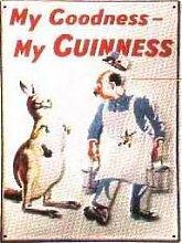 Blechschild Guinness Känguruh Brauerei Bier