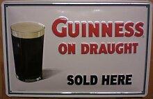 Blechschild Guinness on draught sold here Bier