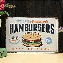 Blechschild Hamburgers Blechschild, Retro-Design,