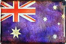 Blechschild Länder Fahne Nationen National Flagge