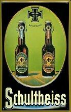 Blechschild Nostalgieschild Schultheiss Bier