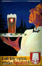 Blechschild Nostalgieschild Spaten Bier München