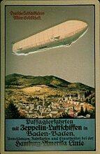Blechschild Nostalgieschild Zeppelin Baden-Baden