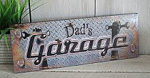 Blechschild Papa Garage Schild Metall 36cm gross Werkstatt Schrauber