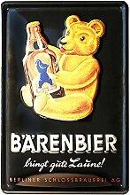 Blechschild Retro Bier - Blechschild Vintage