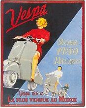 Blechschild Retro Vespa Roma