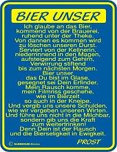 Blechschild Schild Fun Schild - Bier unser... - 22