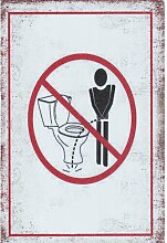 Blechschild Toilette East Urban Home