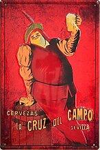 Blechschild Vintage Bier Cruzcampo