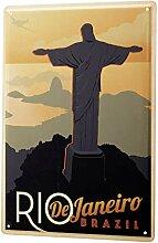 Blechschild Welt Reise Rio de Janeiro Brasilien