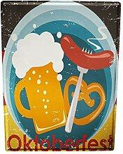 Blechschild XXL Bier Retro Oktoberfest Partykeller