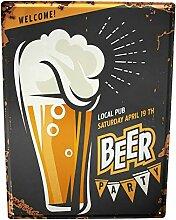Blechschild XXL Brauerei Bier Küche Bier Party