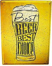 Blechschild XXL Brauerei Bier Küche Bier