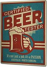 Blechschild XXL Brauerei Bier Küche Biertester