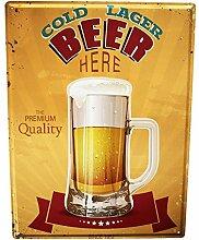 Blechschild XXL Brauerei Bier Küche Lager Bier