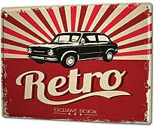 Blechschild XXL Garage Retro altes Auto Tankstellen