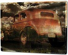 Blechschild XXL Garage Used Look Auto im Freien Tankstellen
