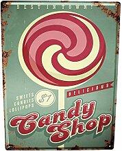 Blechschild XXL Küche Candy shop
