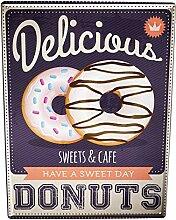Blechschild XXL Küche Donuts